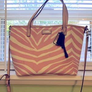 Coach Park Metro Zebra Small Tote Bag